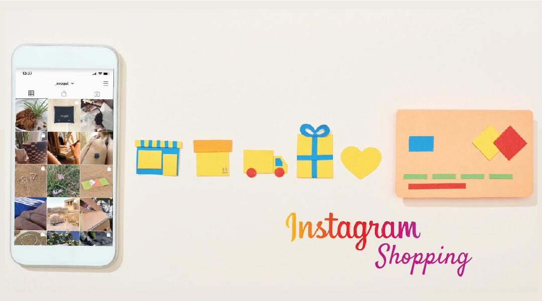 Móvil e iconos de Instagram Shopping